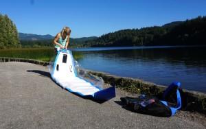 unpacking the Needlenose paddle board