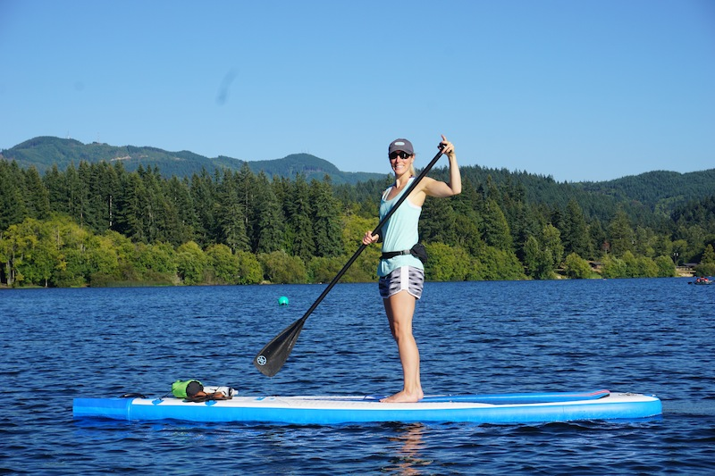 having fun paddling the new 2016 Sea Eagle Needlenose