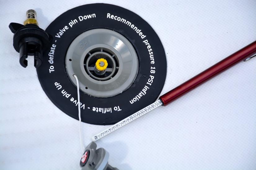Slingshot SUP inflator valve