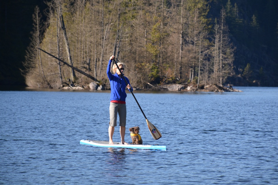 Stand up paddling with Seth