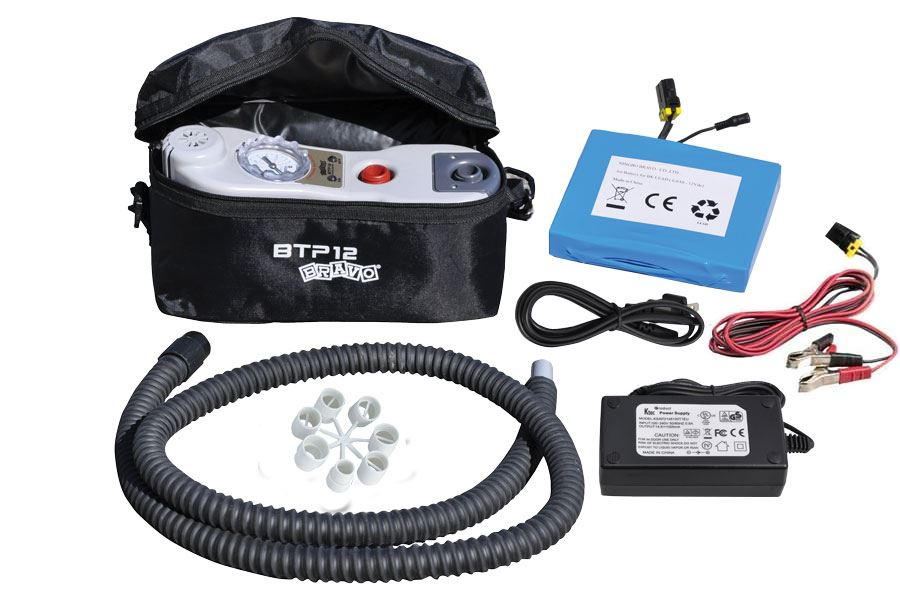 BTP 2-stage turbo pump with rechargeable battery pack