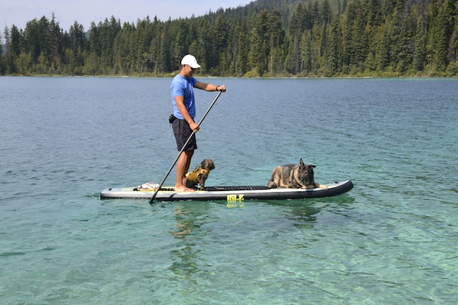 Isle 11' inflatable SUP at Johnson Lake