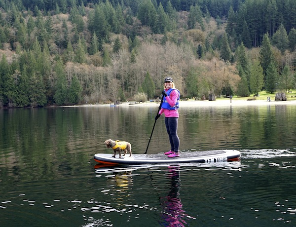 paddling Ten Toes Weekender at Buntzen Lake