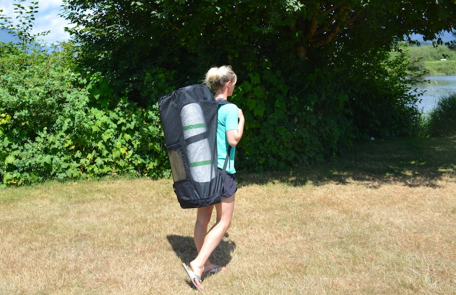 carrying the Current Drives Huey ISUP backpack carry bag
