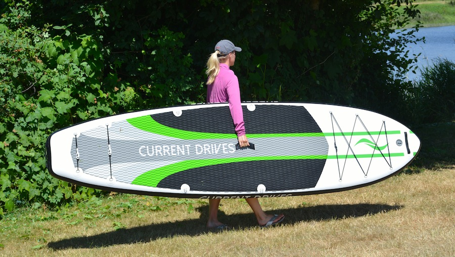 Current Drives inflatable SUP deck pad