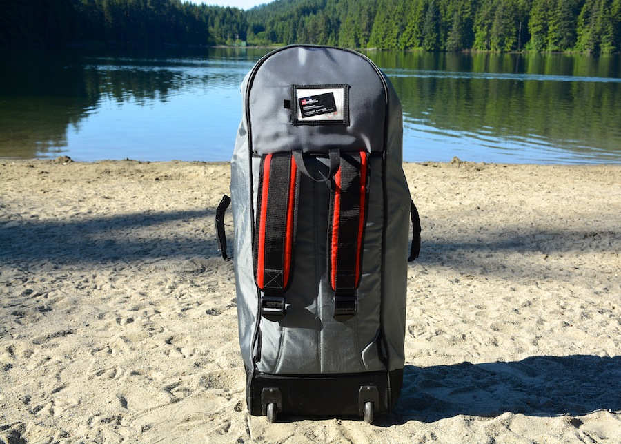Red Paddle Co backpack with padded carry straps