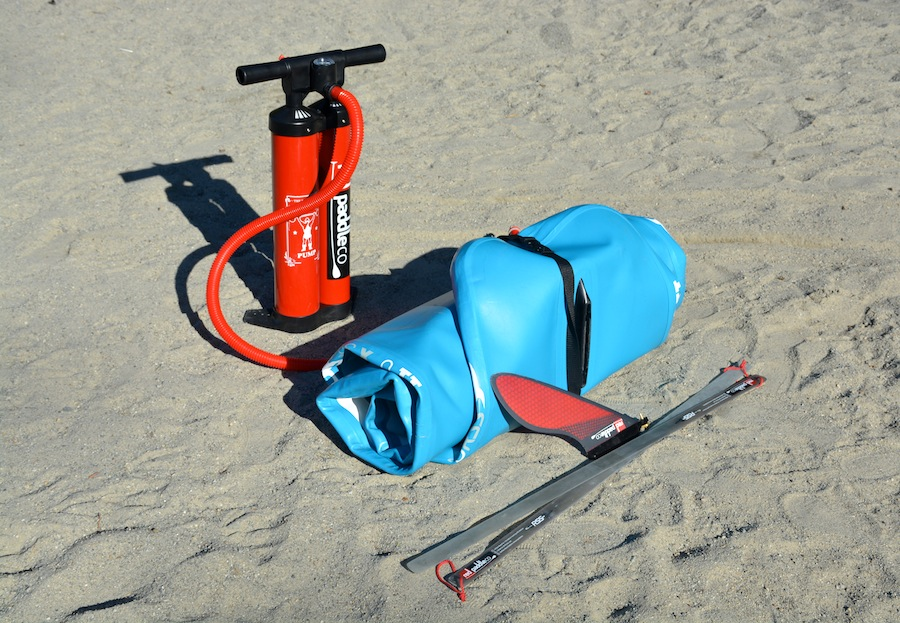 Red Paddle Co Sport, titan pump, fin and RSS stiffening battens