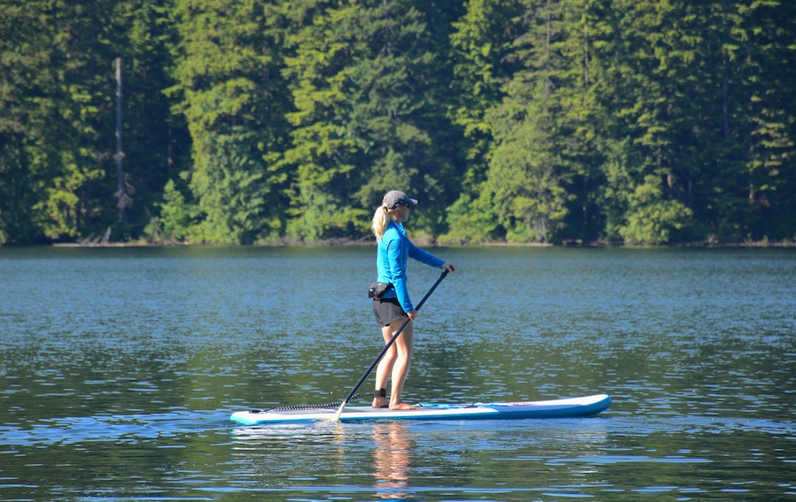 Paddling the Red Sport inflatable SUP - ISUPworld.com