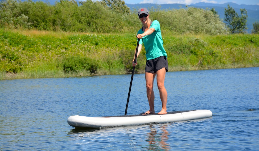 Paddling the Saturn Ultra-Light inflatable SUP