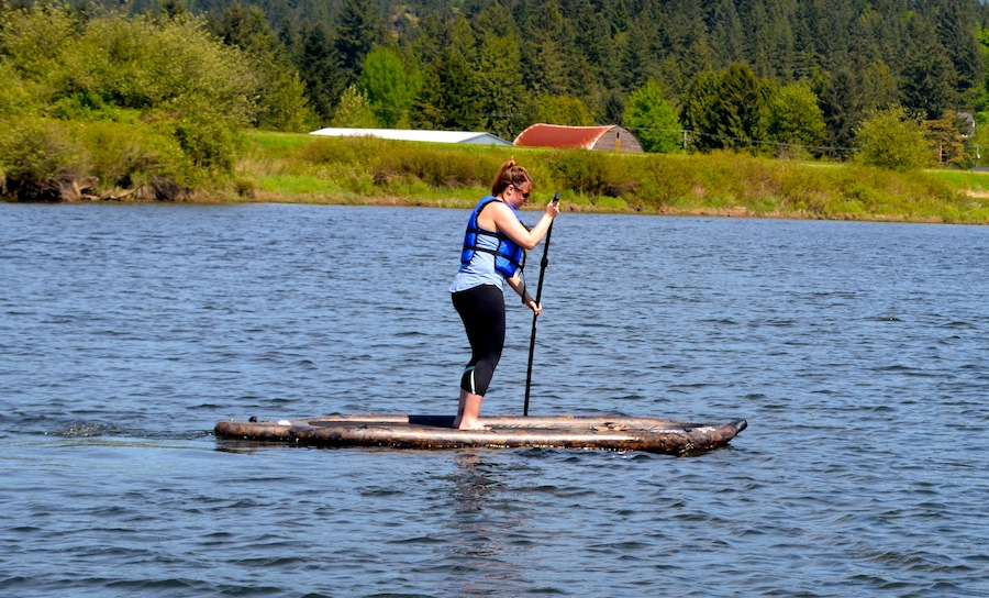 paddling with the Airhead adult sized universal life jacket