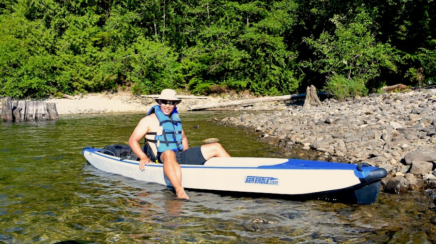 kayaking with the Airhead universal lifejacket