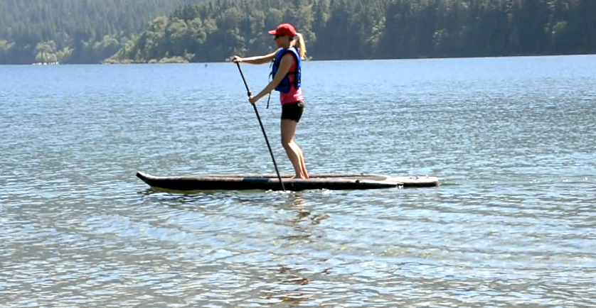 stand-up paddling with the Airhead universal lifejacket