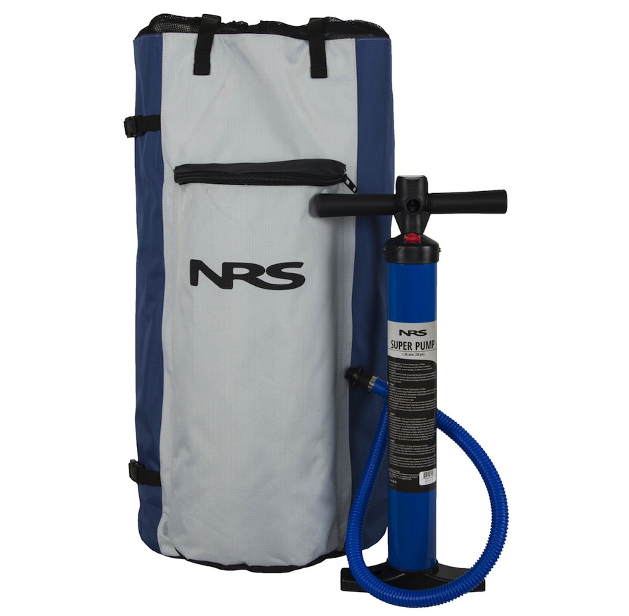 NRS SUP backpack and pump