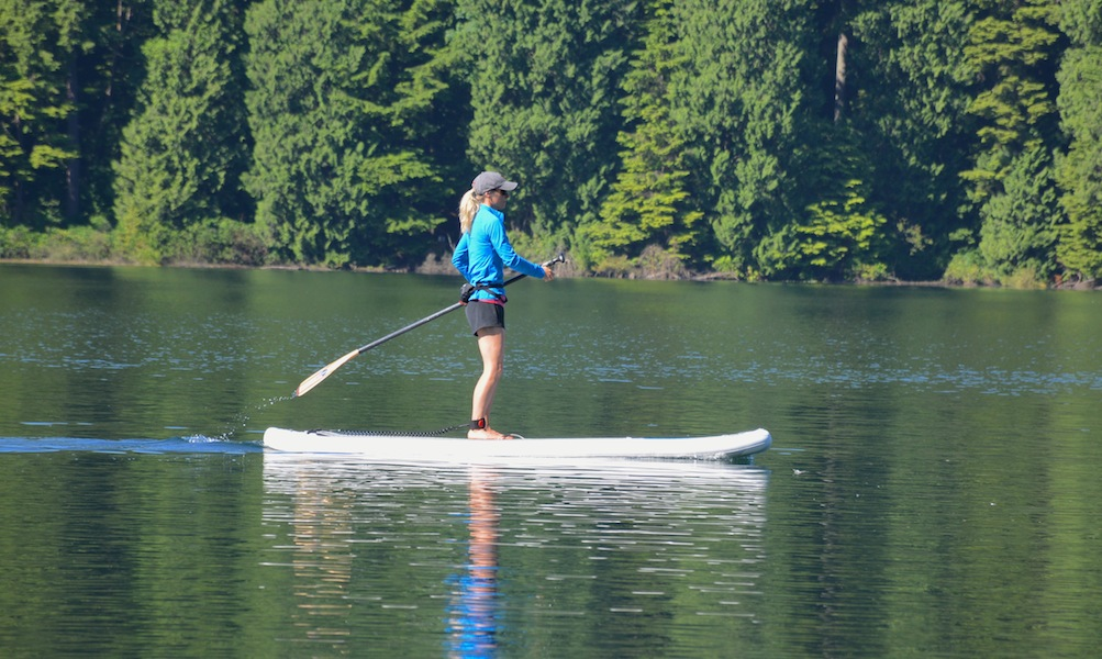 paddling the NRS Earl on Sasamat Lake
