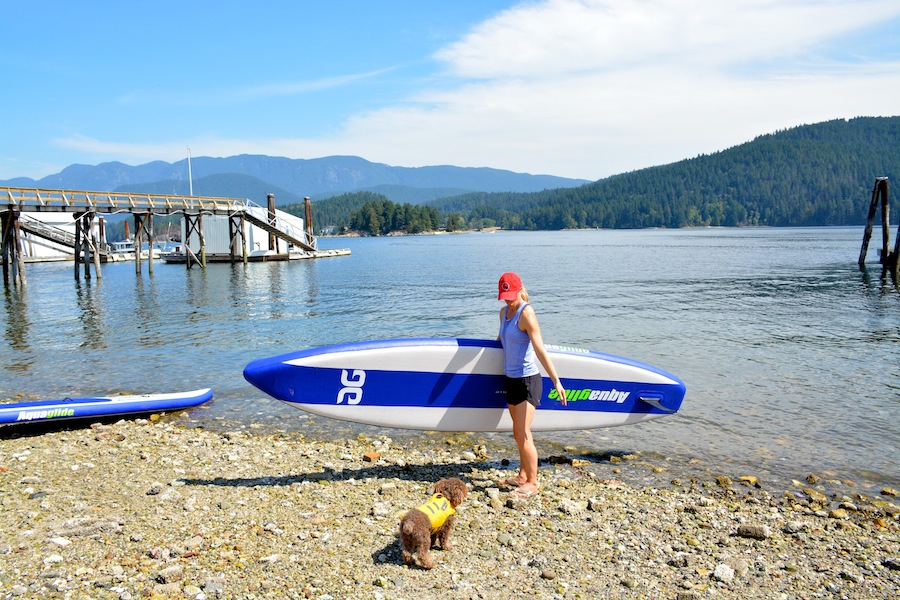 Deep Cove - taking the Aquaglide Cascade touring SUP out
