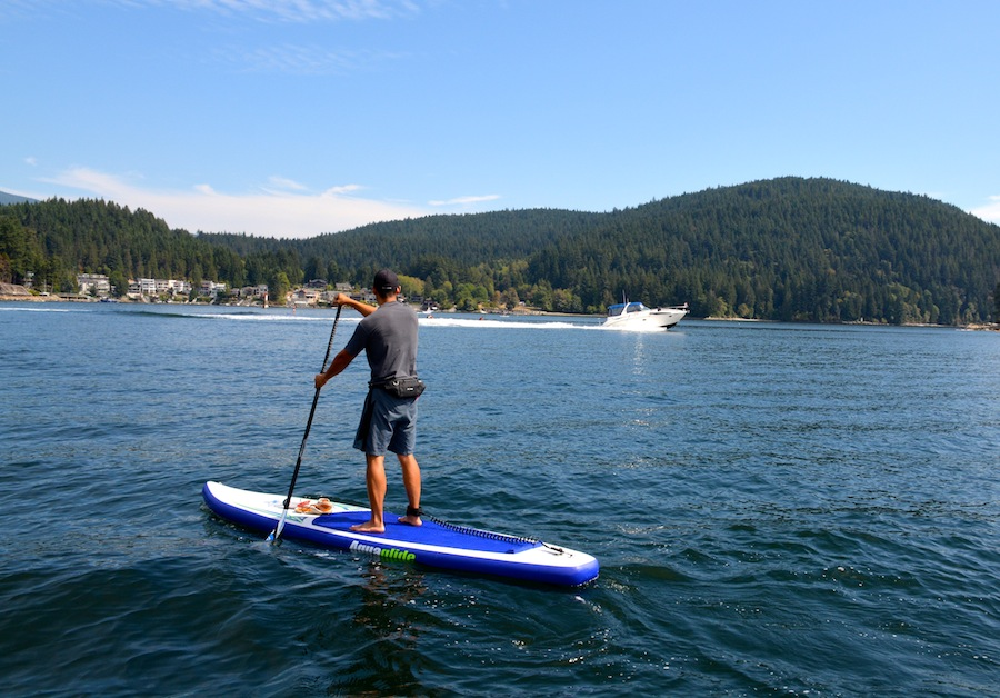 stand-up paddling in Deep Cove