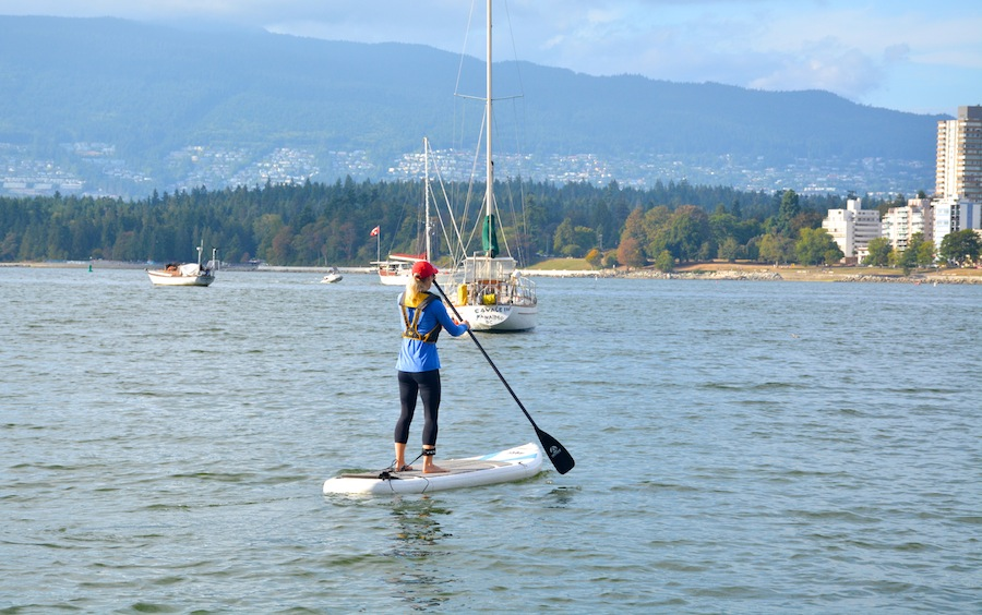 paddling the Czar ISUP Vancouver BC