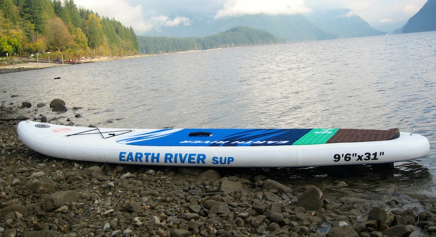 "Earth River 9'6"" inflatable SUP"