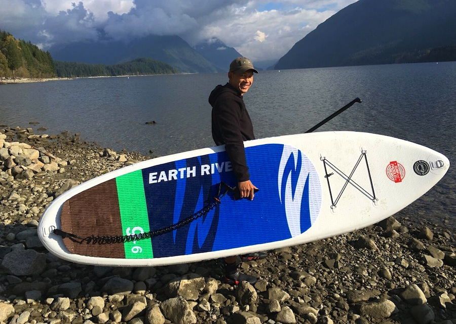 "taking the Earth River 9'6"" SUP to the water"