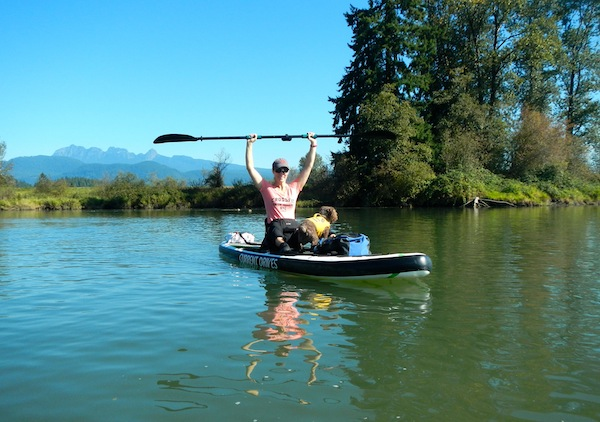 SUP kayaking with electric propulsion kit