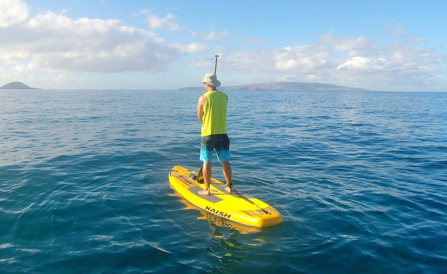 appreciating the beauty around us paddling the Glide Air in Maui