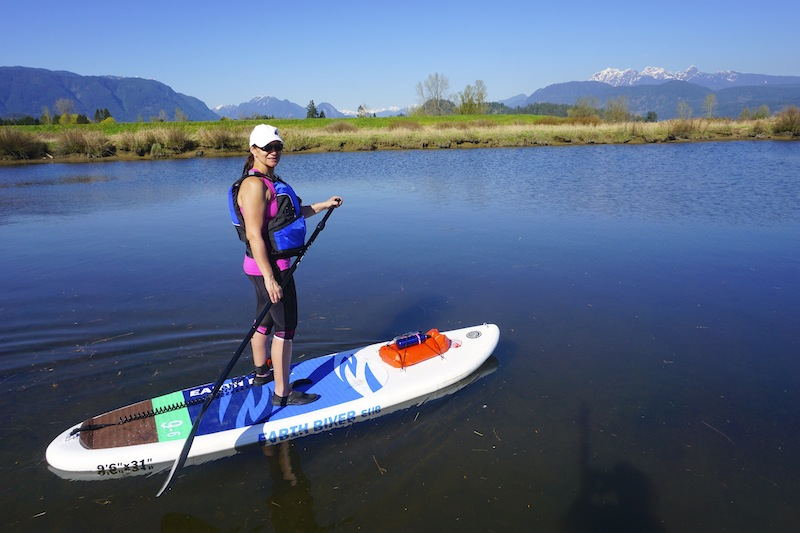 paddling the Earth River inflatable SUP