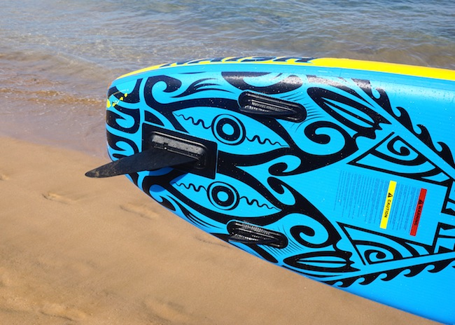 three fins on the Naish Mana Air stand-up paddle board