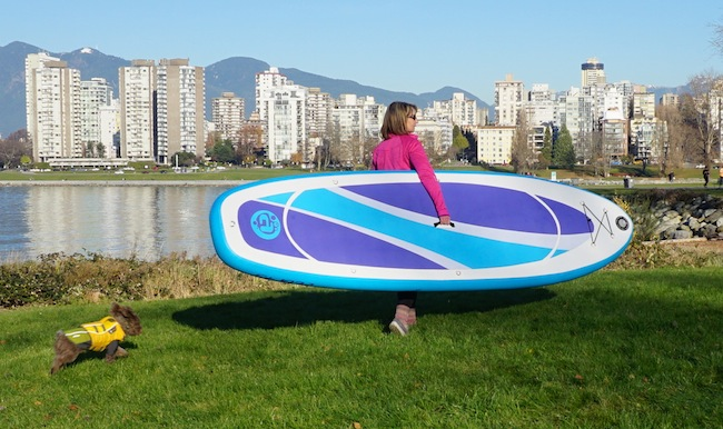 Walking with the Airhead Fit inflatable SUP