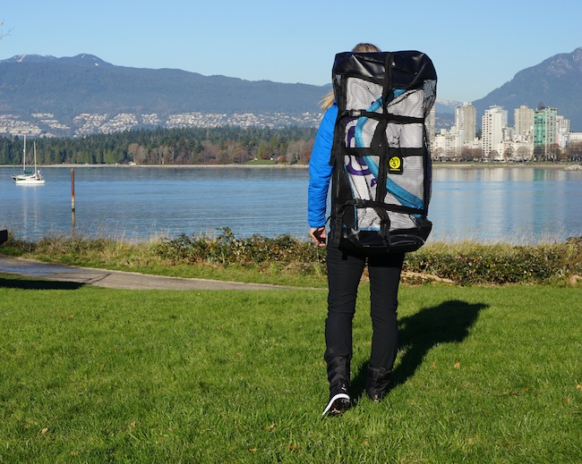 Carrying the Airhead SUP backpack