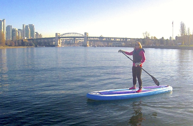 paddling the Airhead Fit in Vancouver