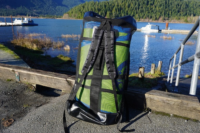 Airhead SUP backpack back view