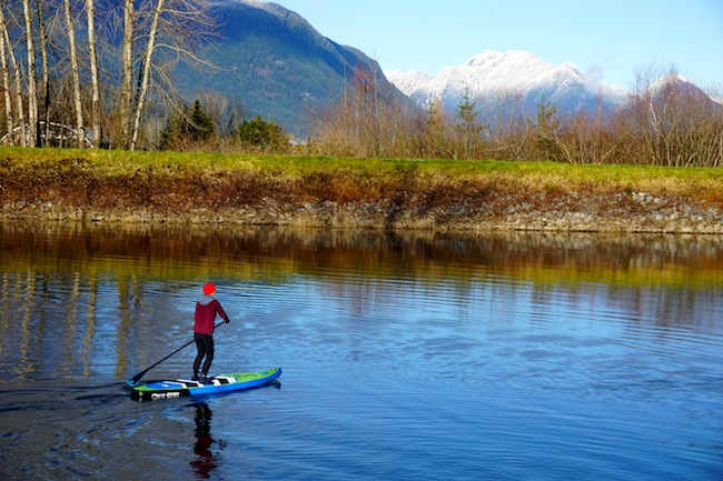 paddling the Airhead SUP Pace