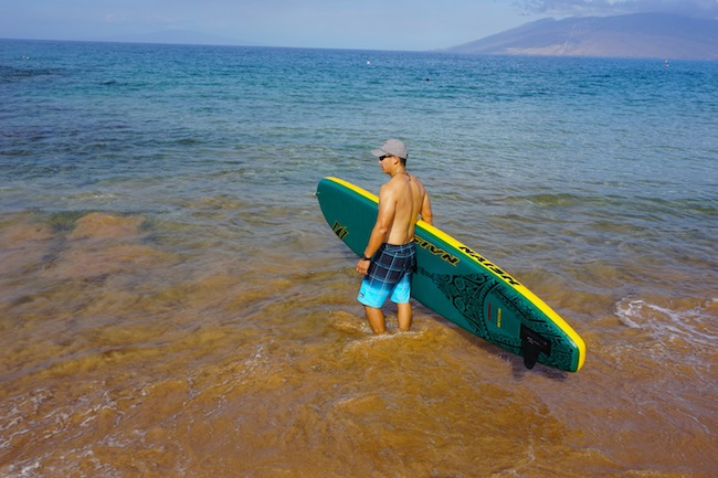 heading out with the Naish Air Series Crossover windsurfing paddle board