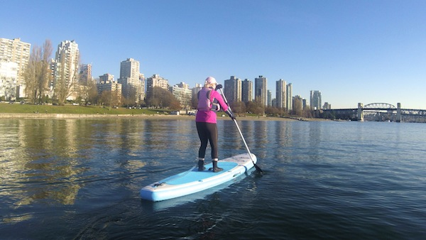 paddling the Wakooda LA132 at English Bay