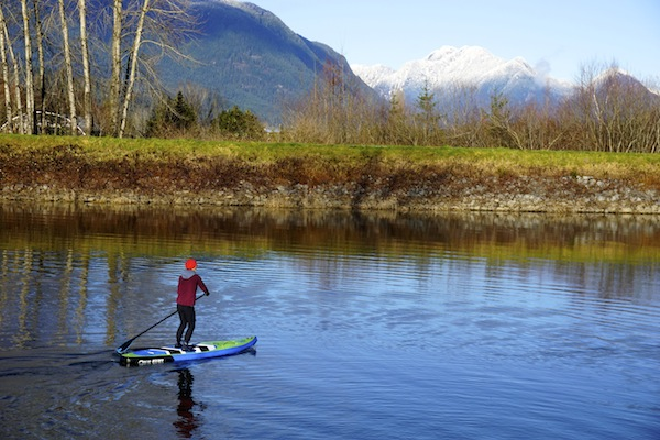 paddling with the Airhead carbon composite SUP paddle