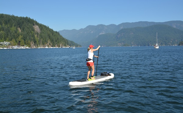 paddling the NRS Imperial stand-up paddle board at Deep Cove
