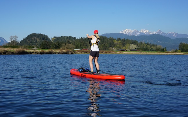 stand-up paddling on the NIXY California ISUP