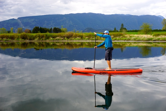stand-up paddling on the Nixy All Around board