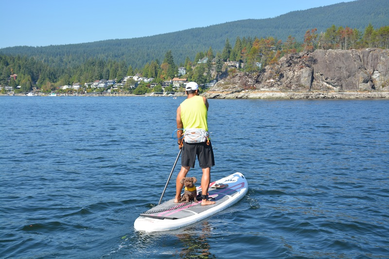 paddling the NRS Baron 6 at Deep Cove