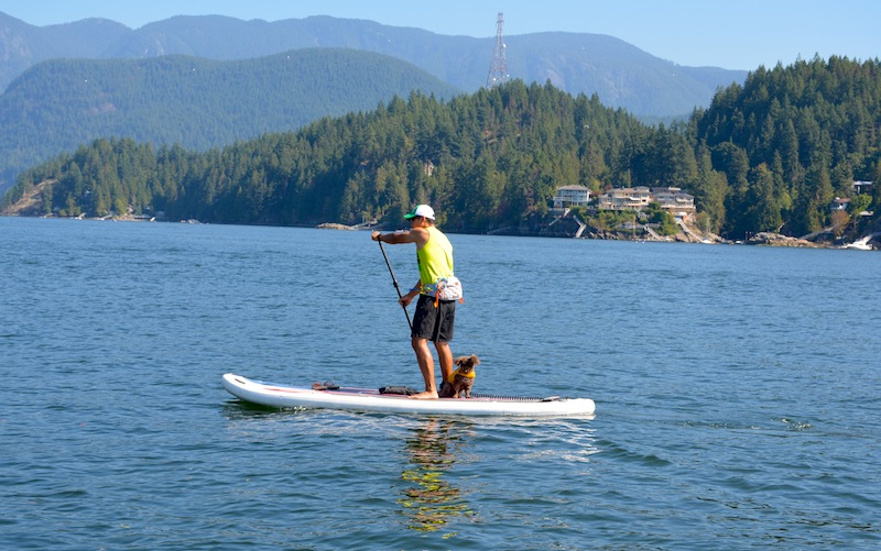 stand-up paddling Vancouver on the NRS Baron