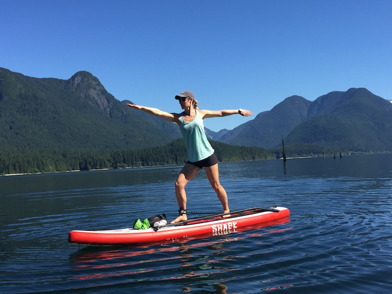 warrrior pose - SUP fitness and yoga