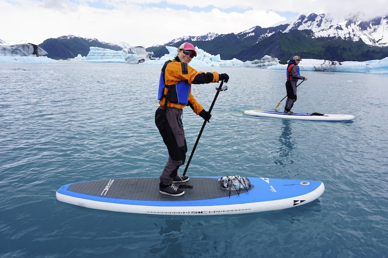 SIC Recon inflatable SUP at Bear Glacier Alaska