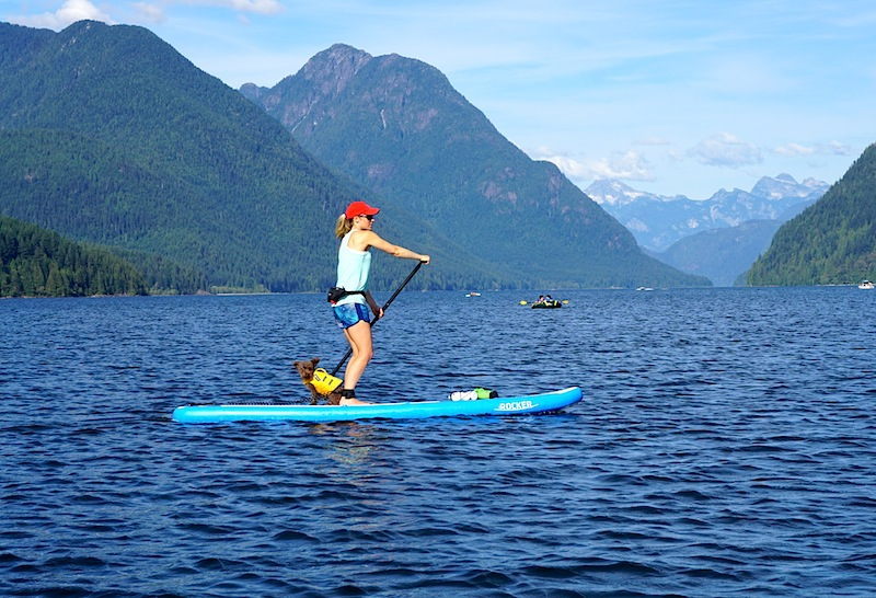 paddling the iRocker 11' inflatable SUP