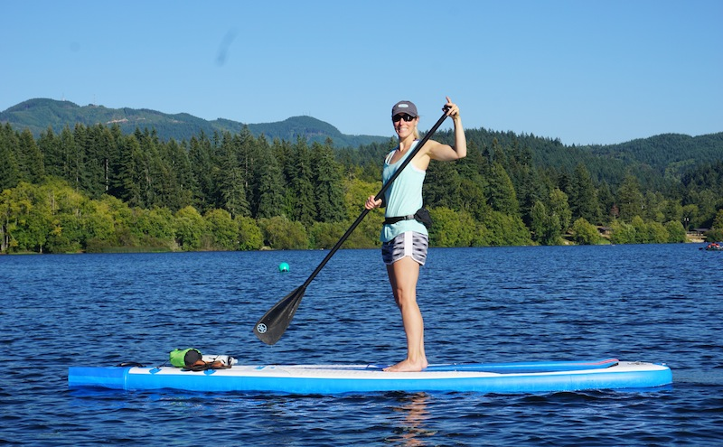 Stand-up paddling with the Werner Trance SUP paddle