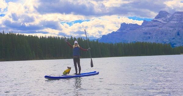 using Werner Trance paddle in Banff