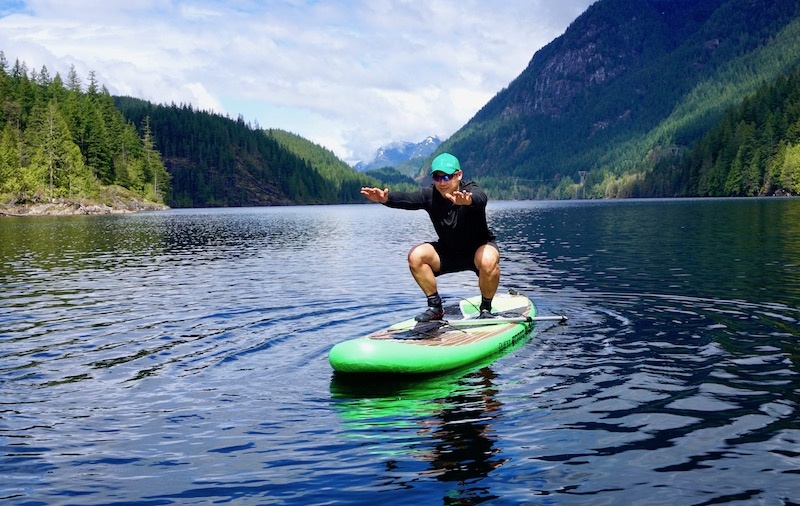 Inflatable SUP fitness and yoga