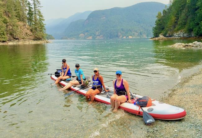 Deep Cove Vancouver Dragon SUP team