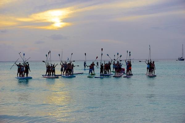 sunset paddle Barbados