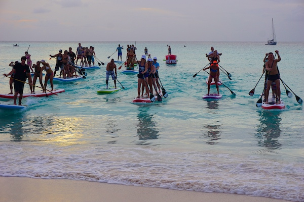 sunset paddle Red Paddle Co Barbados